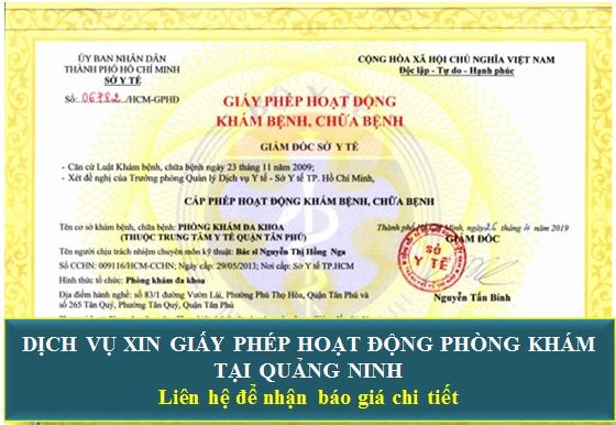 Dịch vụ xin giấy phép hoạt động phòng khám tại Quảng Ninh