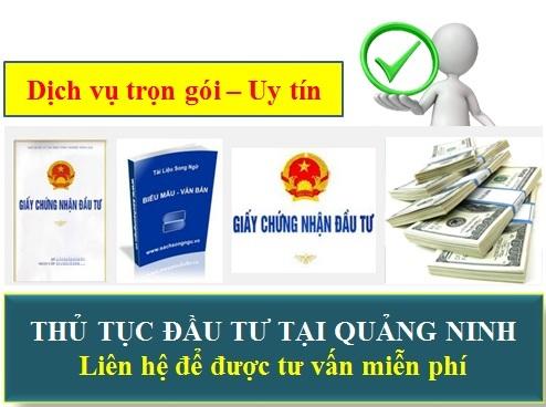 Thủ tục đầu tư tại Quảng Ninh