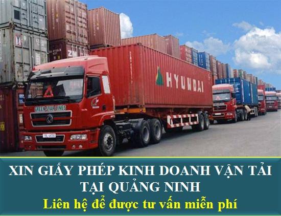Xin giấy phép kinh doanh vận tải tại Quảng Ninh