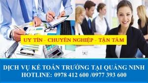 Dịch vụ kế toán trưởng tại Quảng Ninh