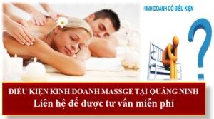 Điều kiện kinh doanh massage tại Quảng Ninh