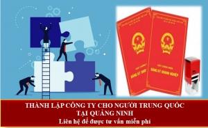 Thành lập công ty cho người Trung Quốc tại Quảng Ninh