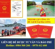 Thành lập công ty du lịch tại Hạ Long