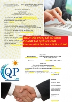 Thay đổi đăng ký hộ kinh doanh cá thể tại Quảng Ninh