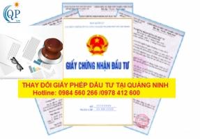 Thay đổi giấy phép đầu tư tại Quảng Ninh