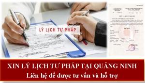 Xin lý lịch tư pháp tại Quảng Ninh